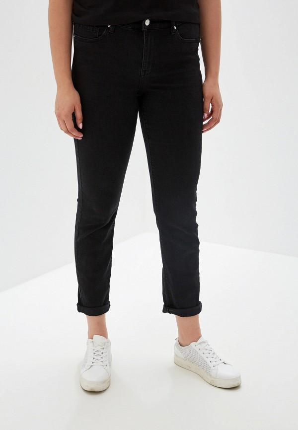 женские прямые джинсы violeta by mango, черные