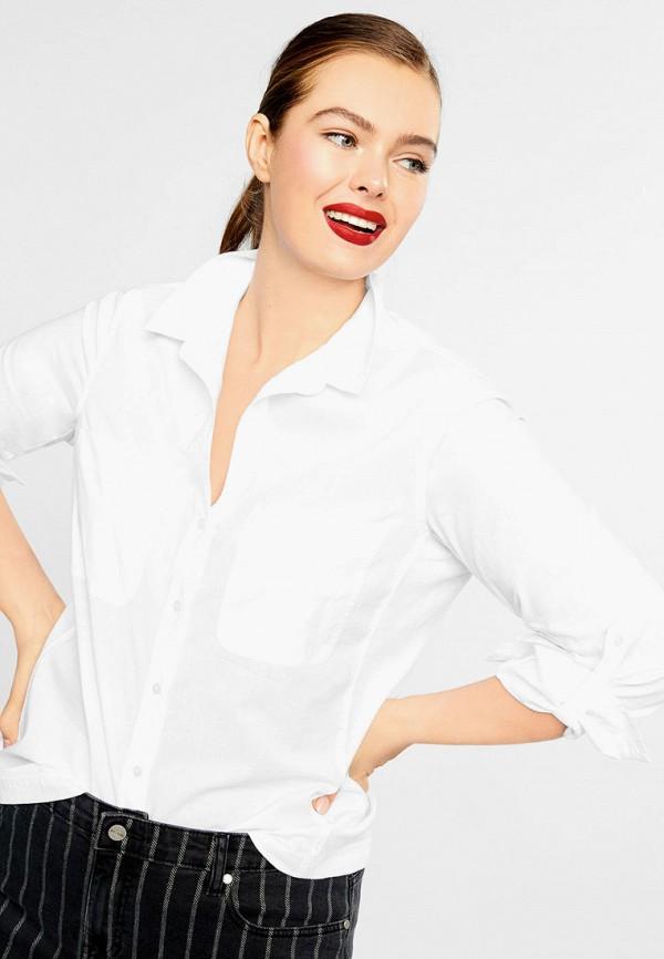 Фото - женскую рубашку Violeta by Mango белого цвета