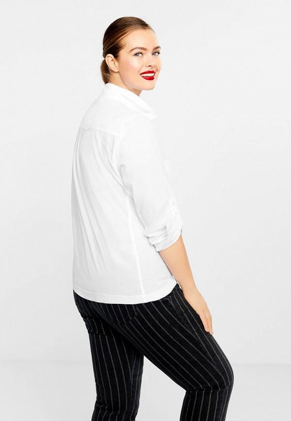 Фото 3 - женскую рубашку Violeta by Mango белого цвета