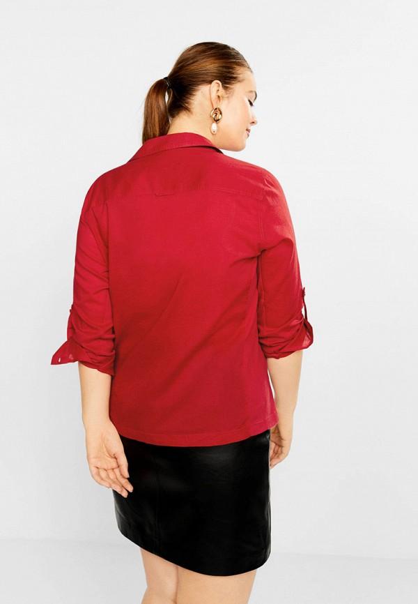 Фото 3 - женскую рубашку Violeta by Mango красного цвета