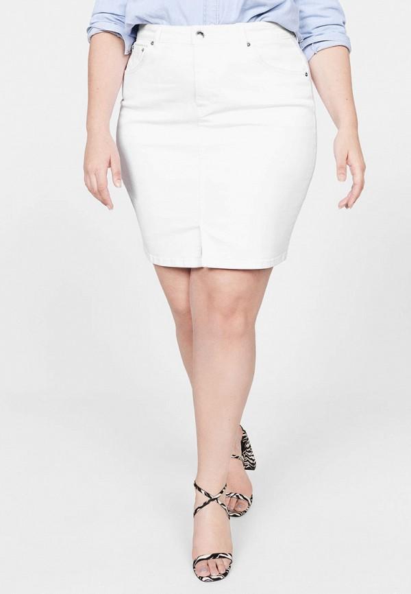 женская юбка violeta by mango, белая