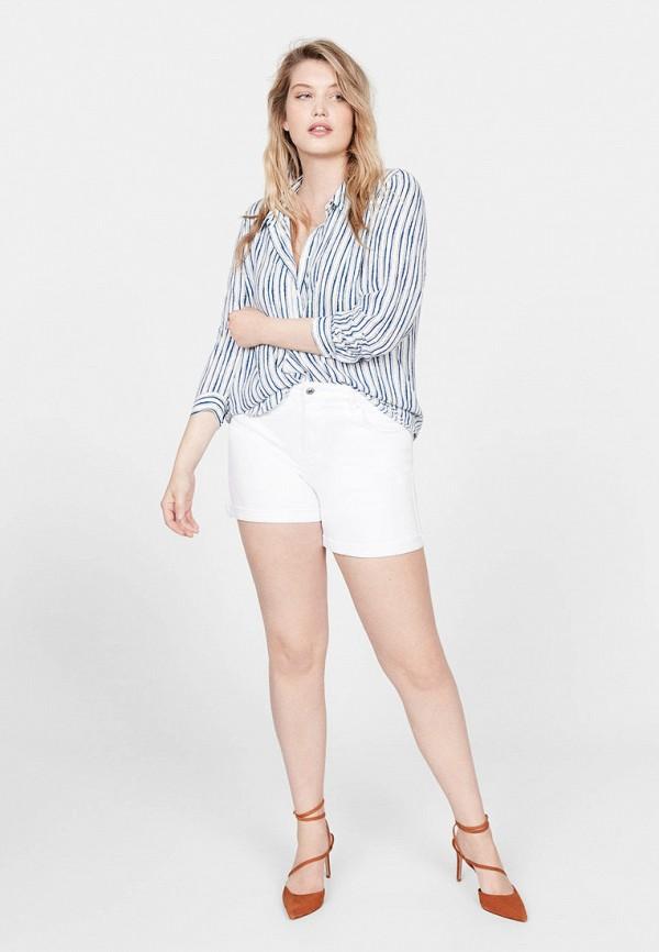 Фото 2 - женскую рубашку Violeta by Mango синего цвета