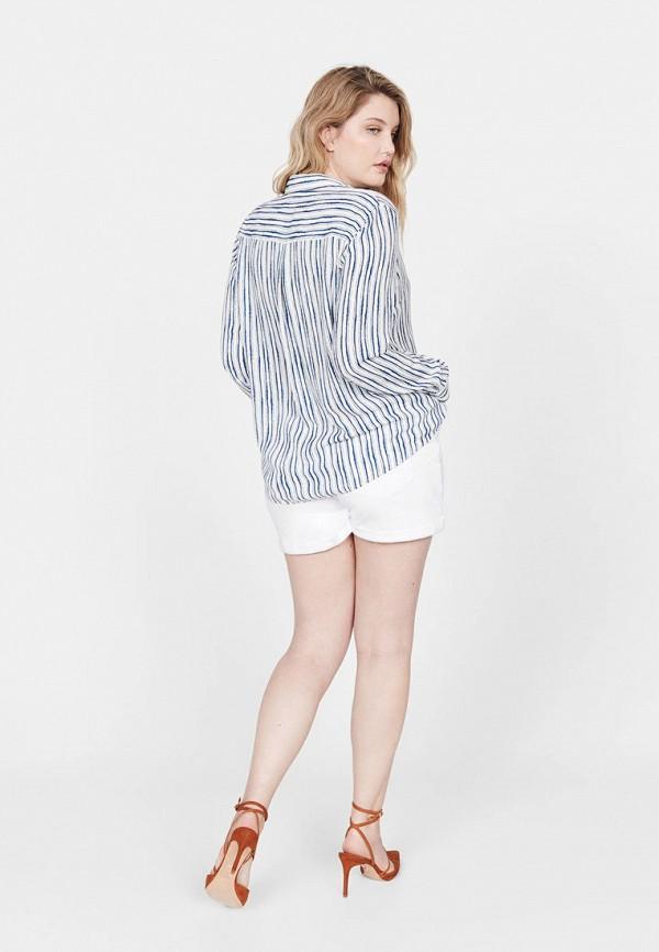 Фото 3 - женскую рубашку Violeta by Mango синего цвета