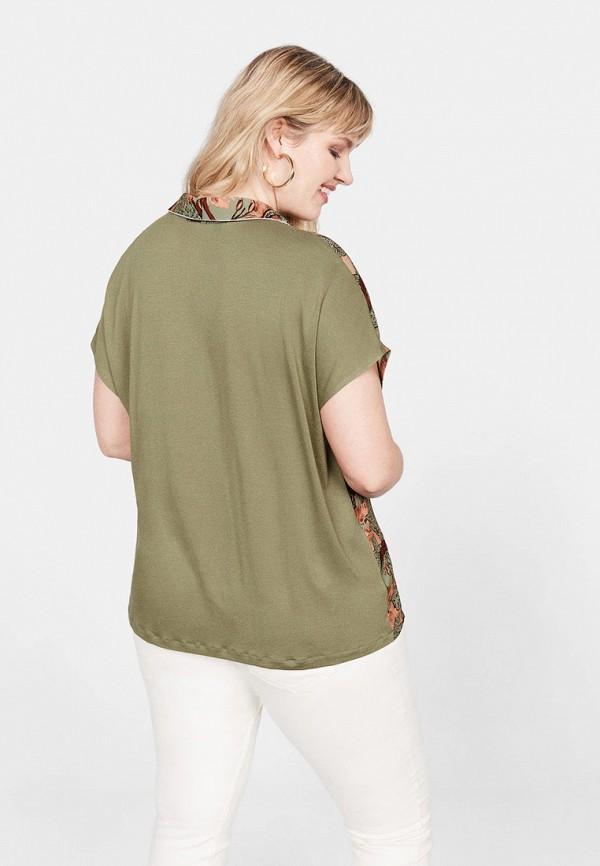 Фото 3 - женскую блузку Violeta by Mango зеленого цвета