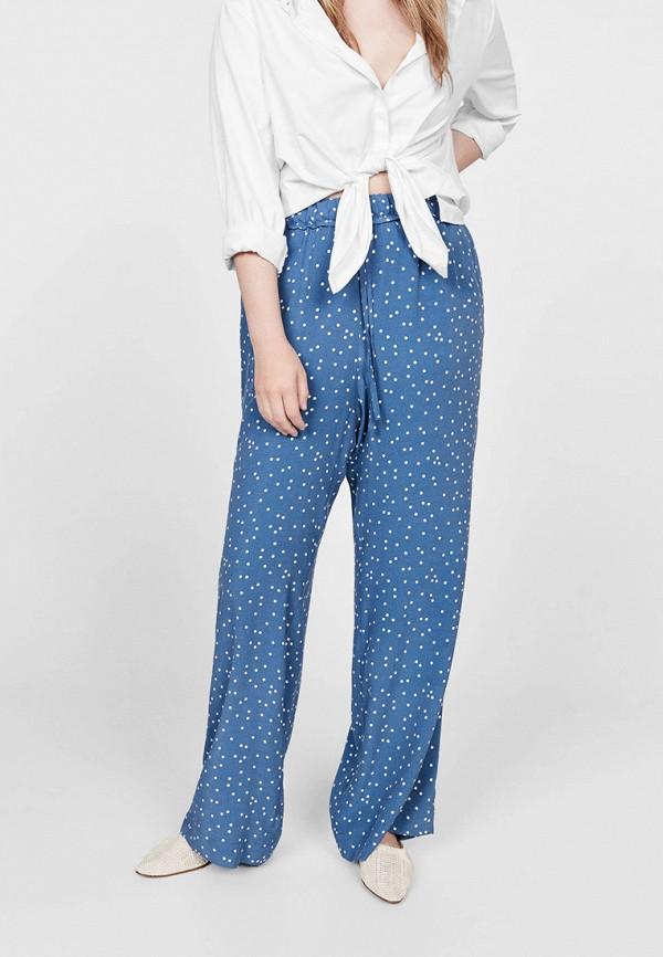 женские брюки violeta by mango, голубые