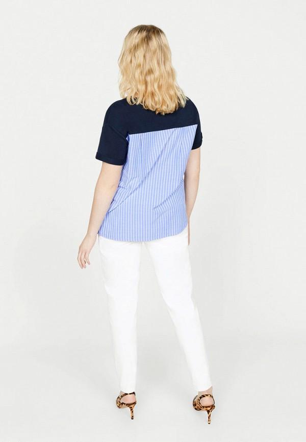 Фото 3 - женский джемпер Violeta by Mango синего цвета