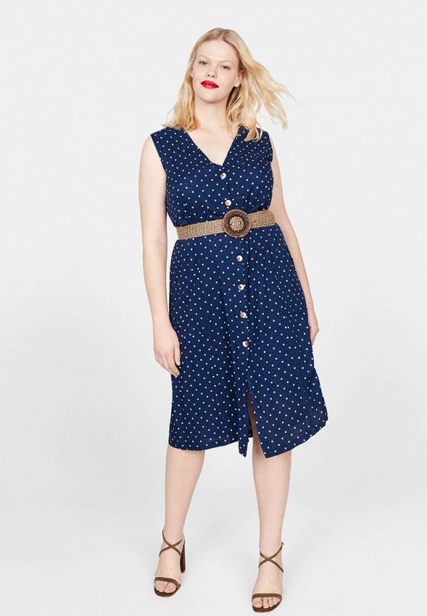 Фото 2 - женское платье Violeta by Mango синего цвета