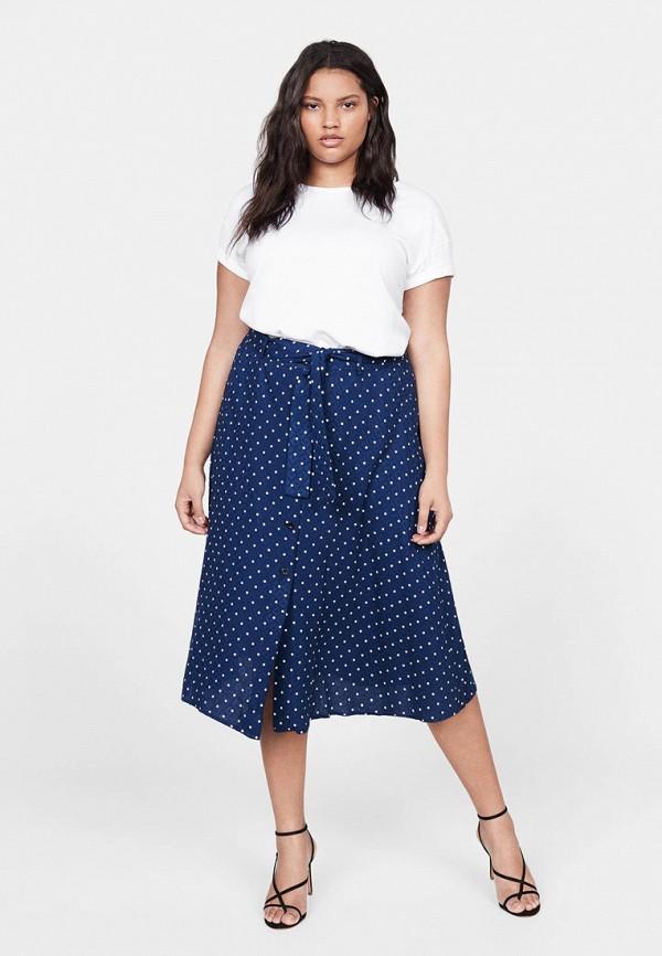 Фото 2 - женскую юбку Violeta by Mango синего цвета