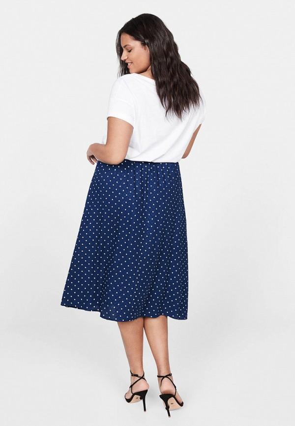 Фото 3 - женскую юбку Violeta by Mango синего цвета