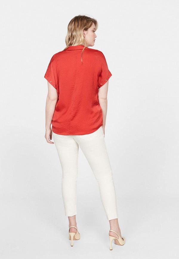 Фото 3 - женскую блузку Violeta by Mango красного цвета