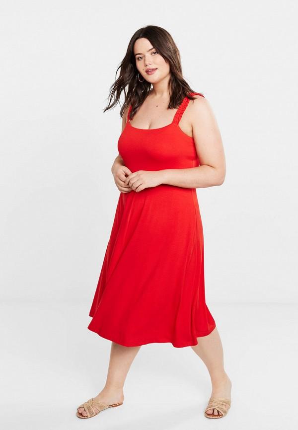 Фото 2 - Платье Violeta by Mango красного цвета