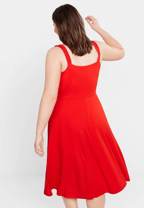 Фото 3 - Платье Violeta by Mango красного цвета