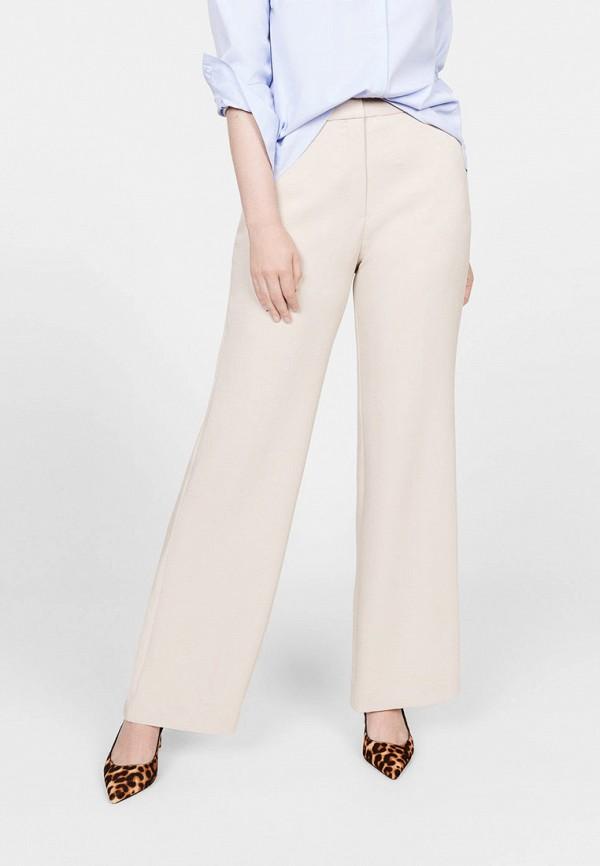 женские повседневные брюки violeta by mango, бежевые