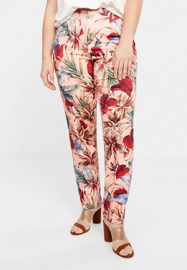женские брюки violeta by mango, розовые