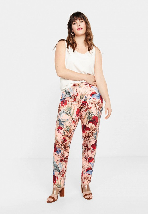Фото 2 - женские брюки Violeta by Mango розового цвета