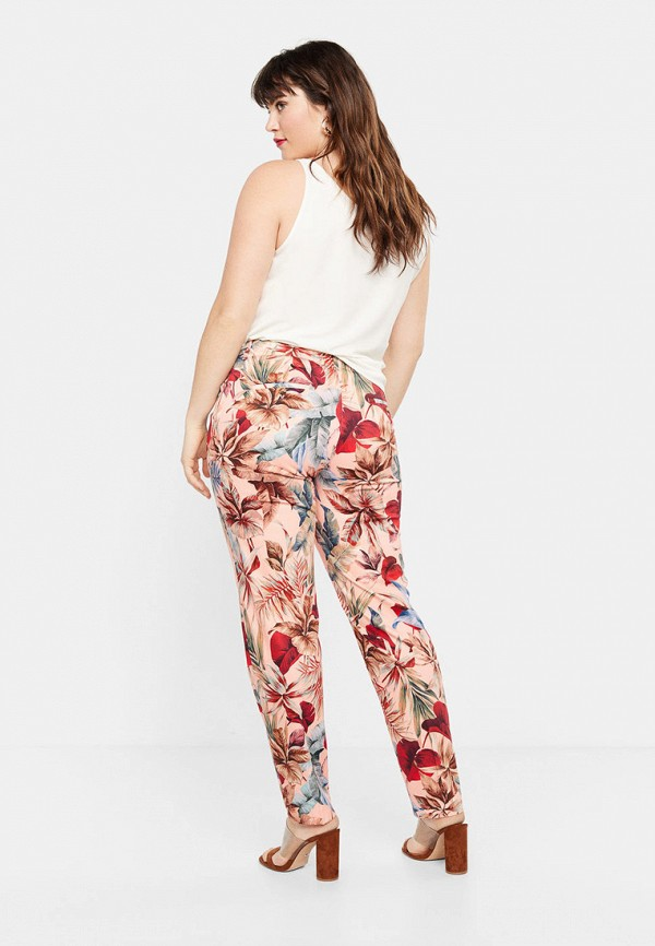 Фото 3 - женские брюки Violeta by Mango розового цвета