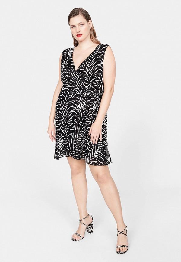 Фото 2 - женское платье Violeta by Mango черного цвета