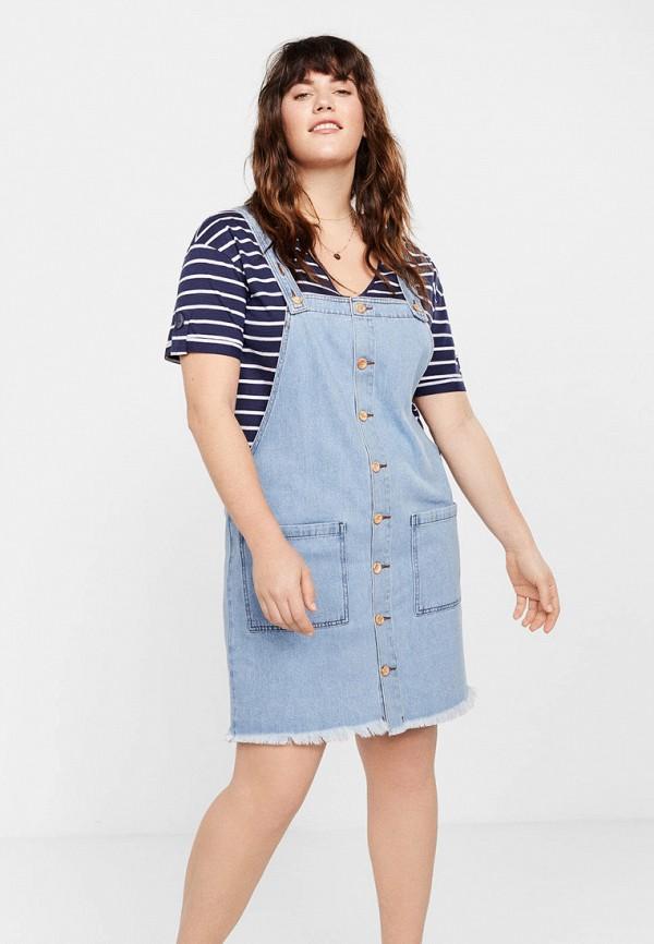 Фото - Платье джинсовое Violeta by Mango голубого цвета