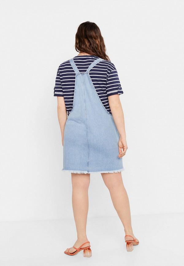 Фото 3 - Платье джинсовое Violeta by Mango голубого цвета