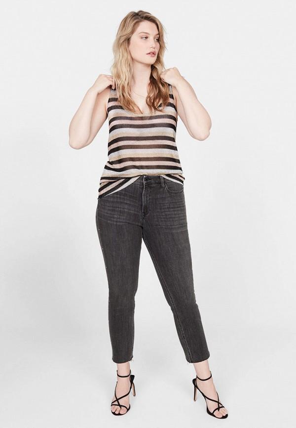 Фото 2 - женские джинсы Violeta by Mango серого цвета