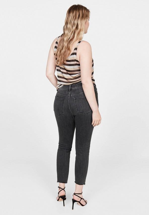 Фото 3 - женские джинсы Violeta by Mango серого цвета