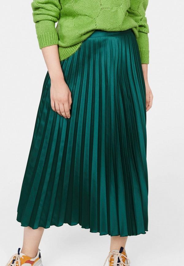 женская юбка violeta by mango, зеленая