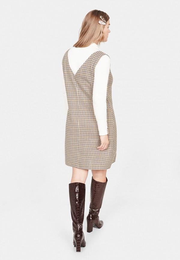 Фото 3 - женское платье Violeta by Mango бежевого цвета