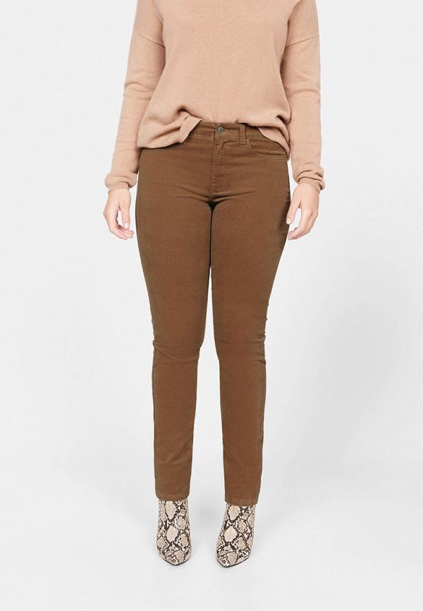 женские повседневные брюки violeta by mango, коричневые
