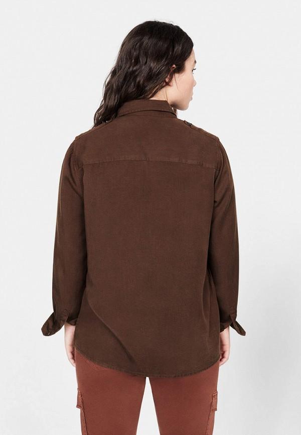 Фото 3 - женскую рубашку Violeta by Mango коричневого цвета