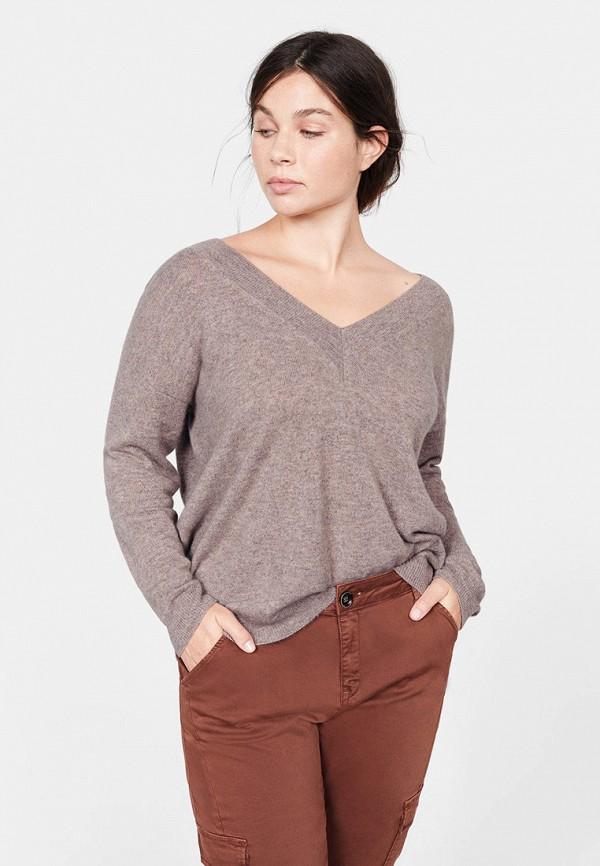 Фото - женский пуловер Violeta by Mango серого цвета