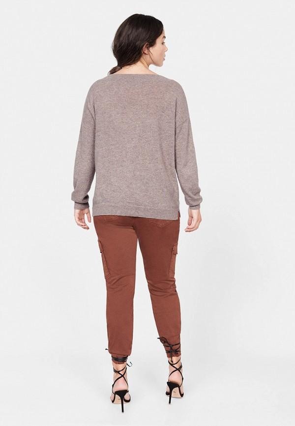 Фото 3 - женский пуловер Violeta by Mango серого цвета