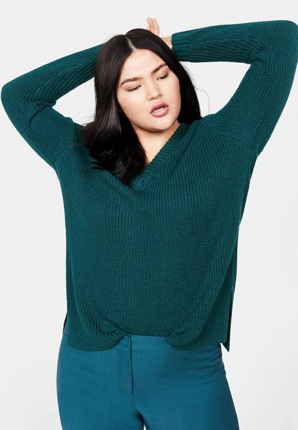 Фото - женский пуловер Violeta by Mango зеленого цвета