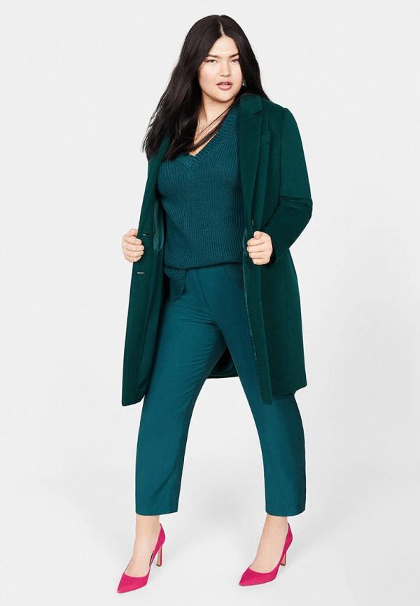 Фото 2 - женский пуловер Violeta by Mango зеленого цвета