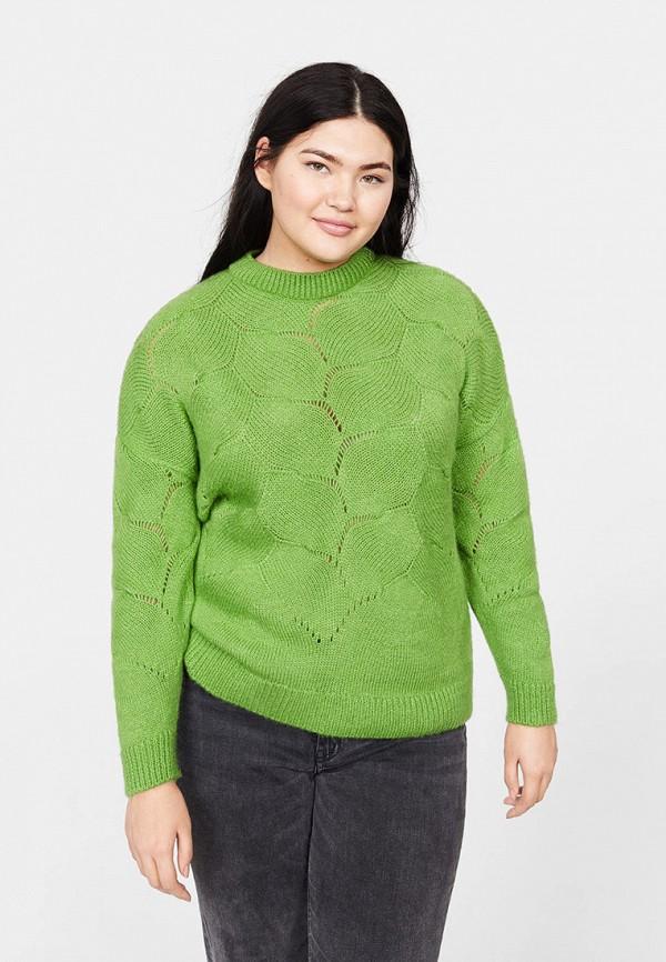 Фото - женский джемпер Violeta by Mango зеленого цвета