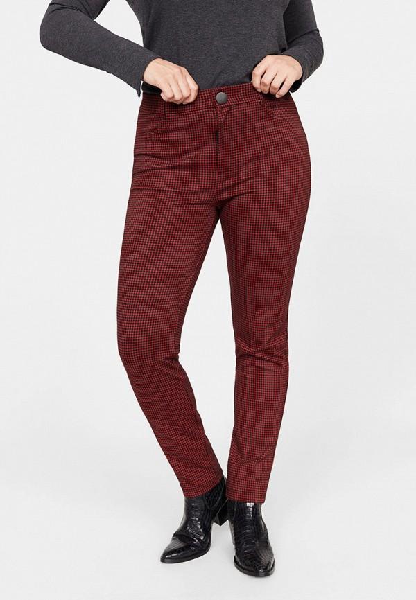 женские повседневные брюки violeta by mango, бордовые