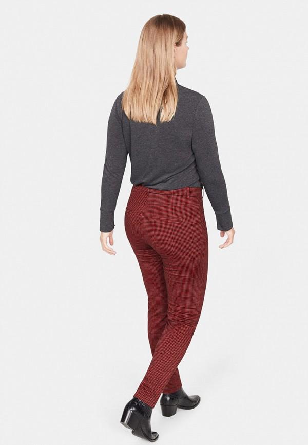 Фото 3 - женские брюки Violeta by Mango бордового цвета