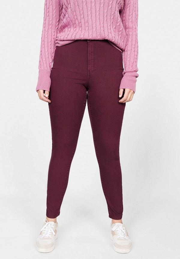 женские повседневные брюки violeta by mango, фиолетовые