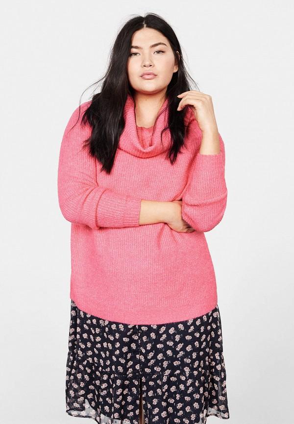женский свитер violeta by mango, розовый