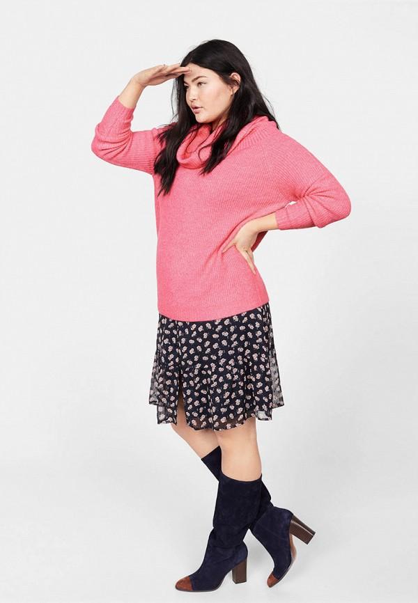 Фото 2 - женский свитер Violeta by Mango розового цвета