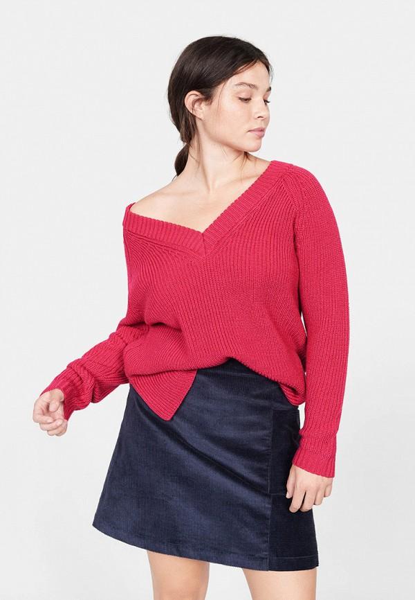 Фото - женский пуловер Violeta by Mango розового цвета