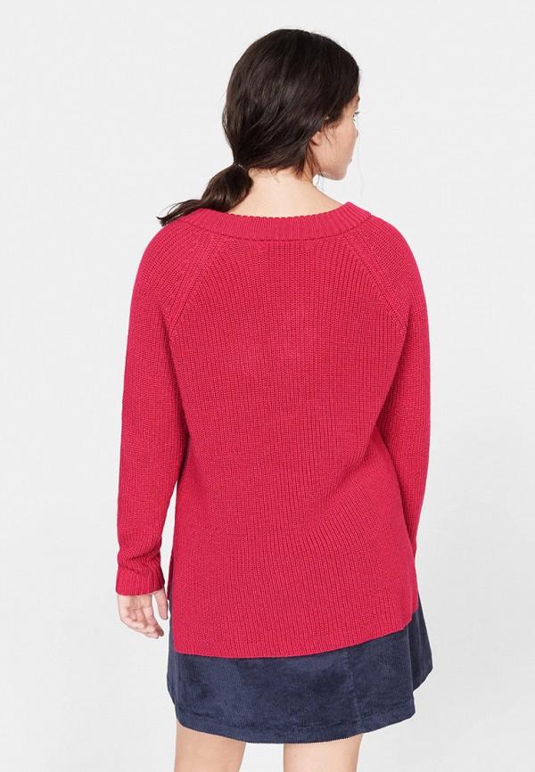 Фото 3 - женский пуловер Violeta by Mango розового цвета