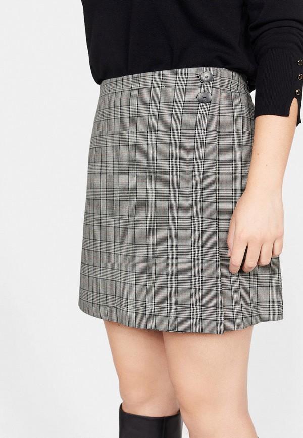 Фото - женскую юбку Violeta by Mango серого цвета