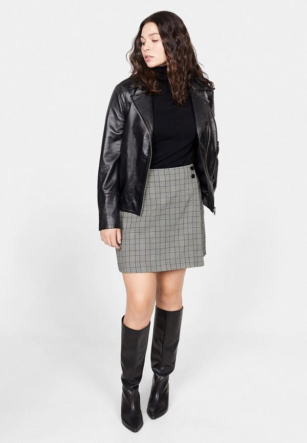 Фото 2 - женскую юбку Violeta by Mango серого цвета