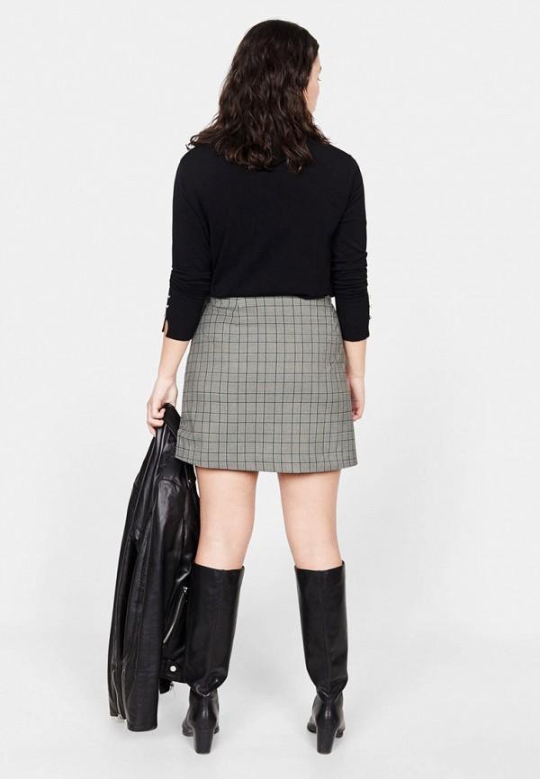 Фото 3 - женскую юбку Violeta by Mango серого цвета