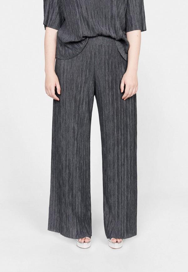 женские прямые брюки violeta by mango, серые