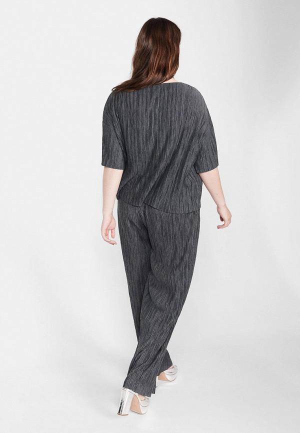 Фото 3 - женскую футболку Violeta by Mango серого цвета