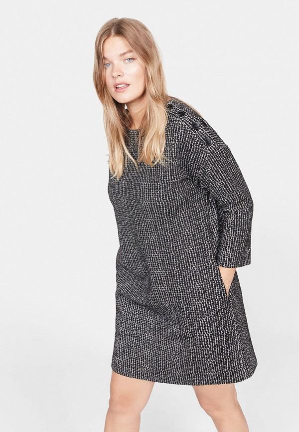 Фото - женское платье Violeta by Mango серого цвета