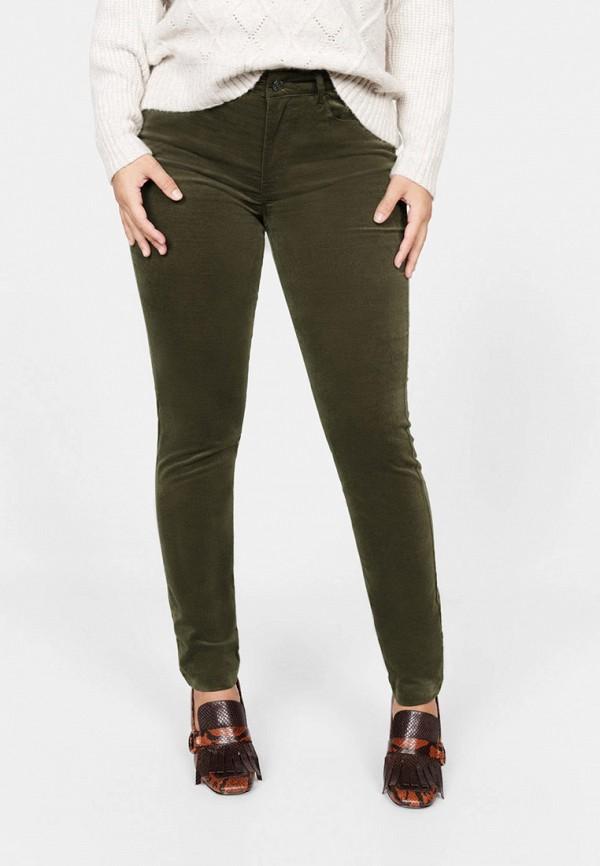 женские прямые брюки violeta by mango, зеленые