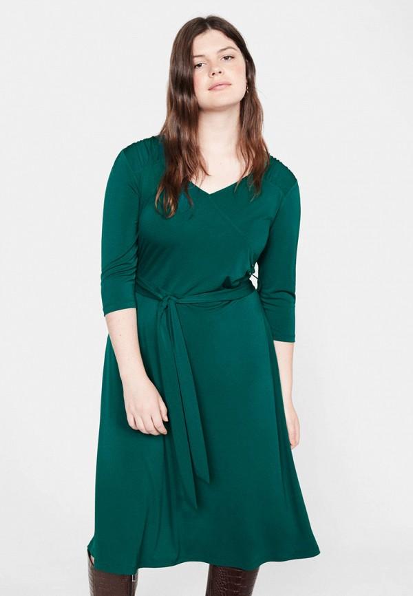 женское повседневные платье violeta by mango, зеленое