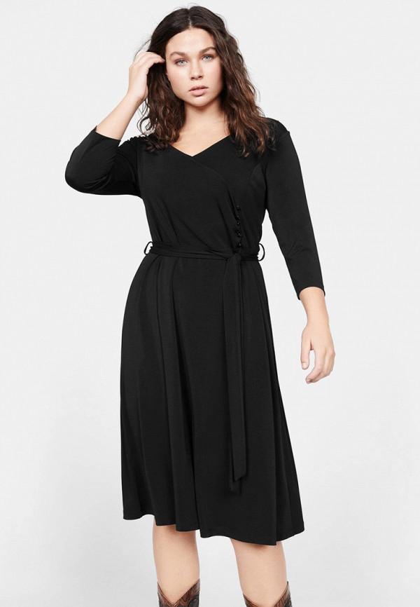 женское повседневные платье violeta by mango, черное